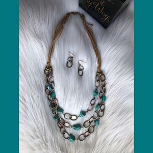 Jewelry - Turquoise Statement Necklace and Earring Set